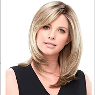 YYCHER Beautiful Wigs, European and Wig Lady Oblique Bangs Short Wave Wig Cover 42 cm for Cosplay Party Daily Use