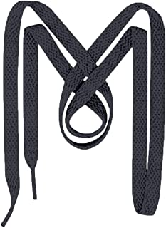 M+M UltraVibe Shoelaces for Sneakers - USA Made - 2 Pairs Flat Sneaker Laces and Shoe Strings (54, Dark Gray)