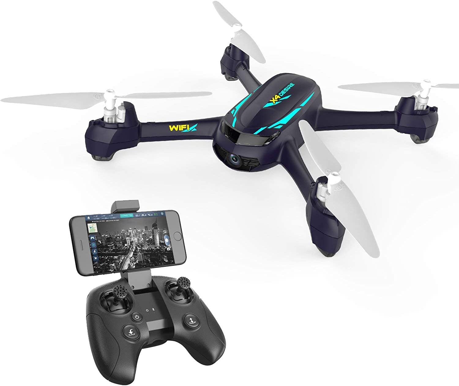 Drone with HD Camera Remote Control Helicopter WiFi APP Control Headless Mode GPS with me