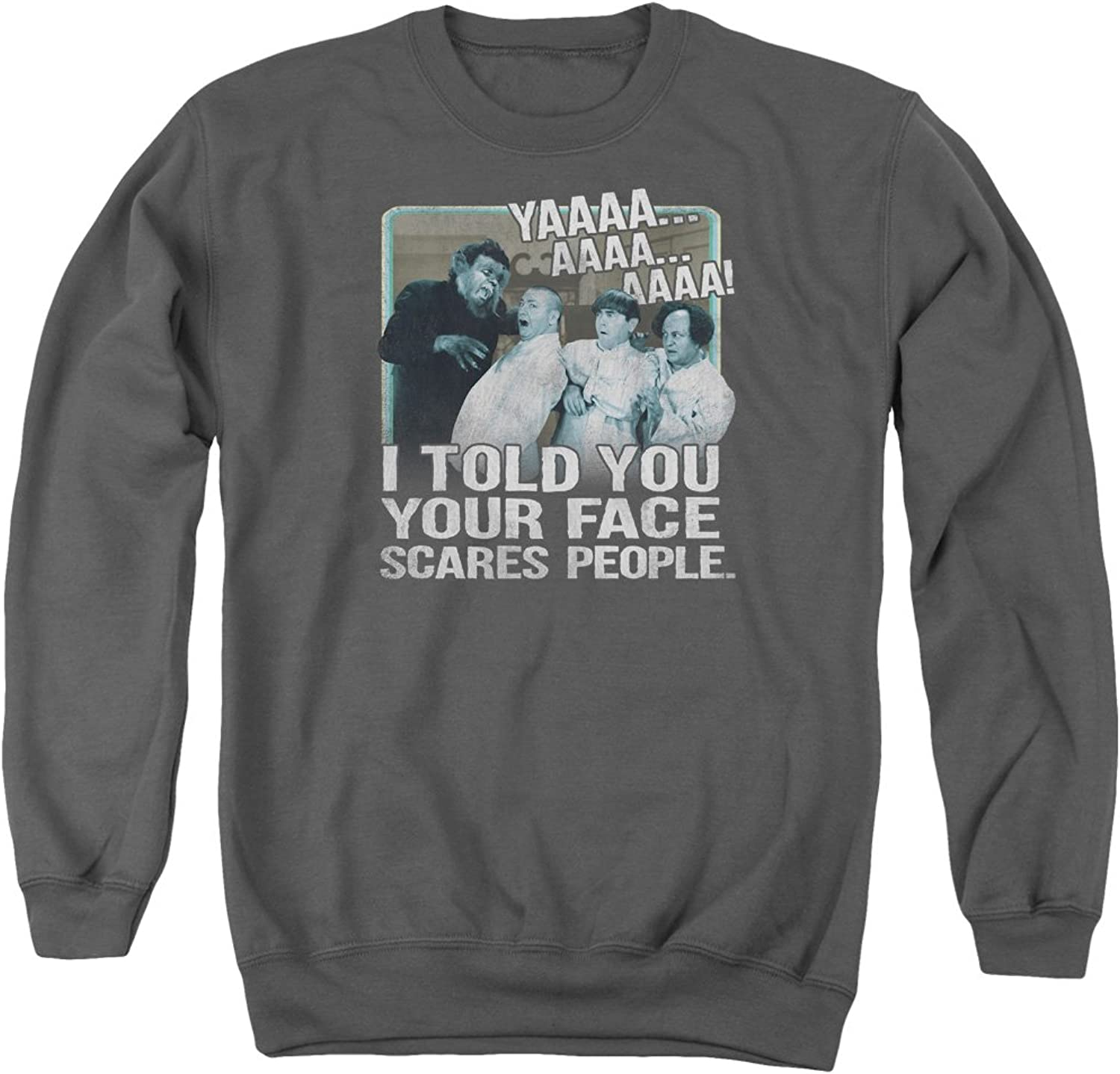 Three Stooges  Mens Scares People Sweater