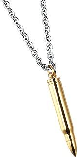 Polish Bullet Pendant Necklace Stainless Steel Urn Ash Memorial Keepsake