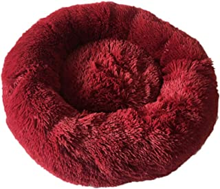 Pet Bed Plush Round Cat and Dog Bed