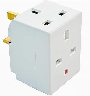 3 Way socket For Home Office Fused Multi-Plug Adapter (UK) 13 aMP 240V aC 3 Socket