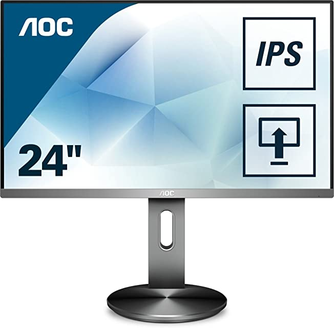 AOC Monitores I2490PXQU/BT - Pantalla para PC de 23.8 (resolución 1920 x 1080 pixels tecnología FlickerFree y LowBlue contraste 1000:1 4 ms HDMI Displayport Regulable en altura)