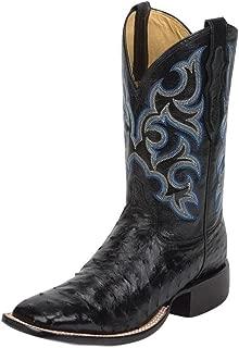 Justin Mens FQ Ostrich Black Shadow Boots