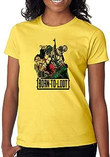 DanielDavis Gamer Fan Born to Loot Custom Made Women's T-Shirt
