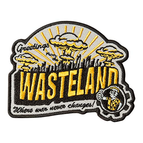 Game Patch Fallout Greetings from The Wasteland - Embroidered Games Badges Applique - Iron On Patches - Size: 3.9 x 3.1 inches