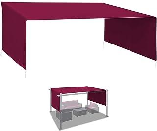 BenefitUSA Universal Replacement Top Pergola Structure (18' L x 8.2' W) Gazebo Canopy Cover (Purple)