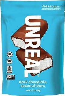 UNREAL Dark Chocolate Coconut Bars | 3g Sugar | Certified Vegan, Gluten Free, Fair Trade, Non-GMO | 3 Bags