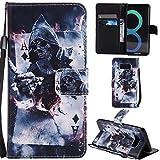 Ooboom® Samsung Galaxy S8 Hülle Flip PU Leder Handy Tasche Hülle Cover Wallet Brieftasche Standfunktion mit Kartenfächer für Samsung Galaxy S8 - Magician
