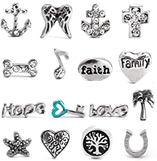 Floating Charm Necklace Locket Charms - Select Your Charm Style