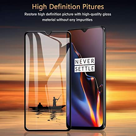 Sceva Present Edge2Edge HD Clear Tempered Glass Screen Protector for OnePlus 6T (Black)