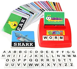 MengTing Alphabet Letter Word Spelling Game Spell Words Board Game for Kids Preschoolers Learning Great Educational P...
