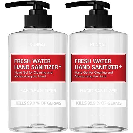 KUNDAL Hand Sanitizer Gel | FDA # 73823-100-01 | 16.9 fl oz x 2 Bottles(1,000ml) | 62% Ethyl Alcohol with Green Tea Extracts