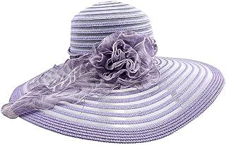 JDSXXZ Sombrero de protección Solar para el Sol Damas de Verano Sombrero de protección Solar para el Sol Sombrero de Viaje Playa de Vacaciones Sombrero de Playa