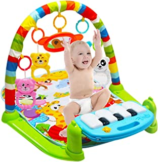 Zandreal Kids Children Fitness Rack Baby Toys Piano Music Blanket Play Plastic Intellectual Development