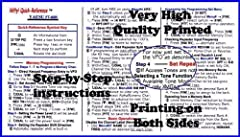 Condensed ham radio set-up and operating instructions quick reference card Pocket guide packed with useful information to simplify radio setup and operation Color-coded, clear and easy to read instructions High quality printing on both sides Laminate...