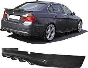 GT-Speed for 2005-2012 BMW E90 4-Door/Sedan 3-Series AC Style PU Rear Bumper Diffuser Add-on Lip (Not Compatible with 335i/M-Tech/M-Sport/M3 Bumper)