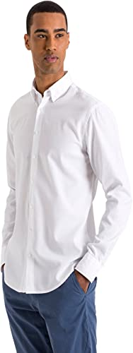 North Sails Basic Longsleeve Shirt Chemise Button Down Oxford à Manches Longues, Classique et au Même Temps Sport