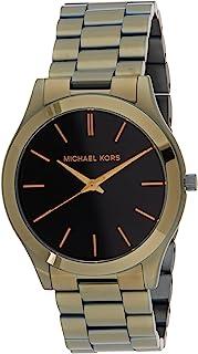 Michael Kors Slim Runway Men's Black Dial Stainless Steel Analog Watch - MK8715