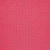 8pcs Soft EVA Foam Mat, Juego de niños Mat de Rompecabezas, Alfombra Antideslizante Ejercicio Floor Mat, 30 * 30 cm,Rojo