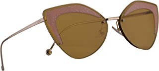 Fendi FF0355/S Sunglasses Ochre w/Brown Lens 66mm FMP 0355S FF0355S FF 0355/S