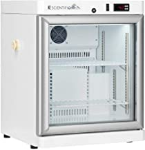 K2 Scientific - Benchtop Style Glass Door Refrigerator for Pharmaceuticals & Vaccines - Medical-Grade Storage - 2 Shelves - 2.5 Cu. Ft.