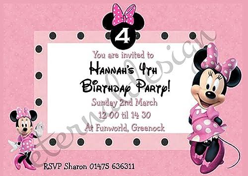 Eternal Design Personalisierte Kinder Geburtstag Einladungen kbsi 32 100 per pack with envelopes