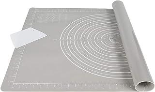 Tapis de cuisson extra épais antidérapant en silicone - Grand format - 71 x 51 cm - Antidérapant - Avec coupe-pâte - XL - ...