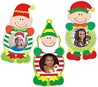 Christmas Elf Picture Frame Magnet Craft Kits- Pack of 12 Kits