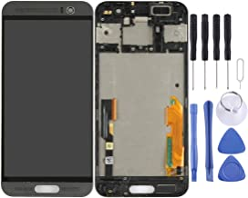 YSH Phone Repair Part LCD Screen and Digitizer Full Assembly with Frame for HTC One M9+ / M9 Plus(Black) Spare Parts for HTC (Color : Black)