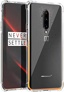 Osophter for Oneplus 7T Pro Case Clear Transparent Reinforced Corners TPU Shock-Absorption Flexible Cell Phone Cover for One Plus 7T Pro 5G McLaren Edition