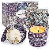 Aukiita Velas Aromaticas, 6 x 4Oz Velas Perfumadas Cera Soja Portátile para Mujer, Regalos para...