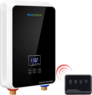 ECOTOUCH Tankless Water Heater Electric, 1.5 GPM On Demand Hot Water Heater with Remote..