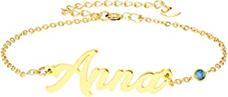 Personalized Name Bracelet 18k Gold Plated Link Bracelet, Custom Made Jewelry in Any Name, Gift for Women