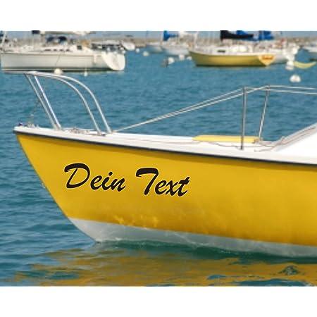 Shirtstown Bootsname Bootbeschriftung Selbsklebende Folie Vers Größen Für Boote Gfk Segelboote Angelkahn Kajak Ruderboot Aufkleber 2 Bootsnamen Breite 40 Cm Farbe Schwarz Küche Haushalt