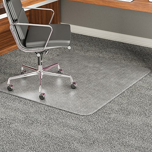 deflect-o 46 by 60-Inch Execumat Studded Beveled Chair Mat for High Pile Carpet, Clear