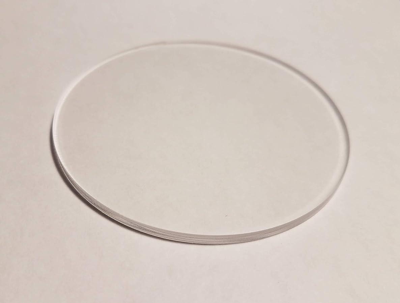 25x Clear Acrylic Circle Blank Discs - 1/8