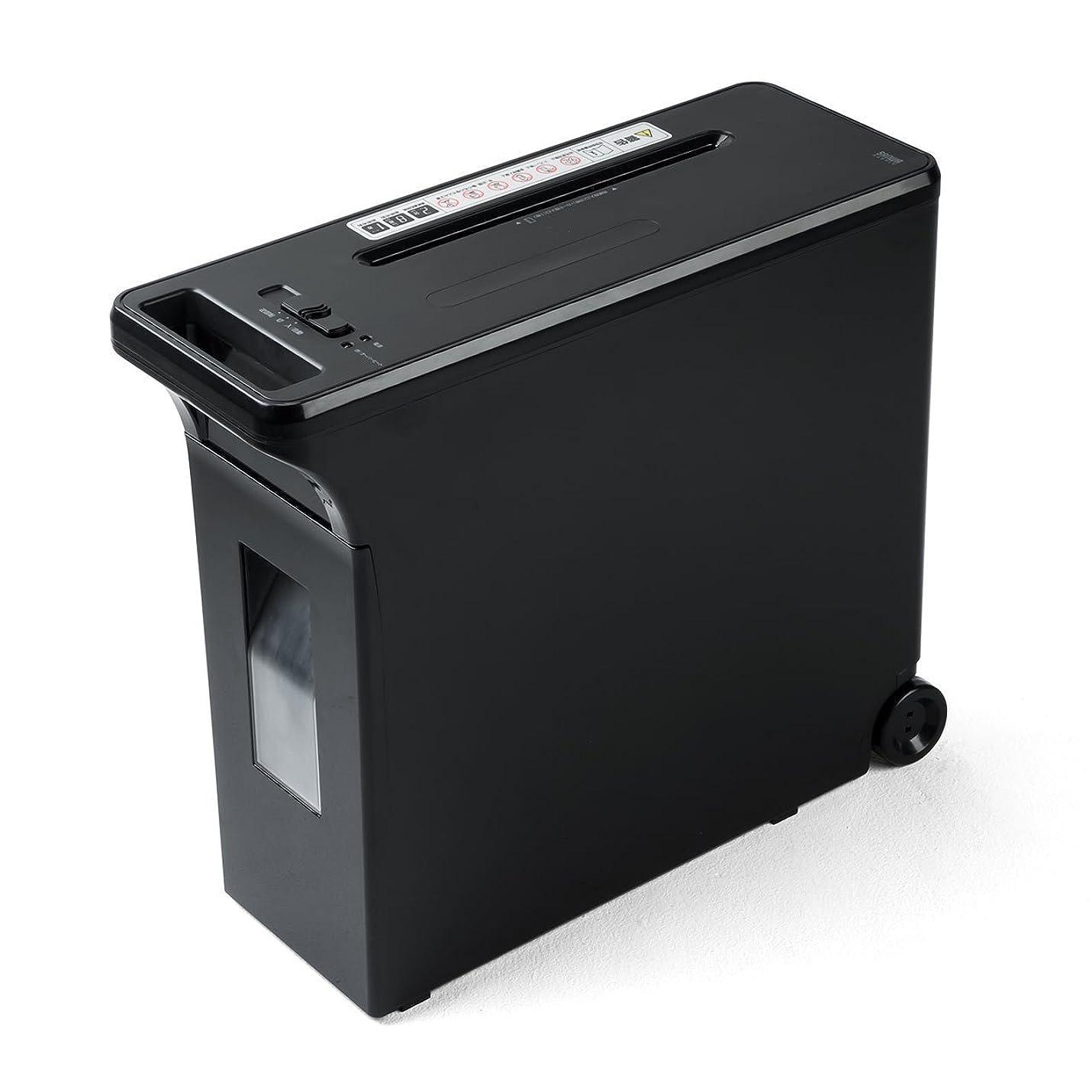 祖母臭い全国イーサプライ コロコロシュレッダー 電動 クロスカット キャスター 取っ手付き A4 連続使用時間2分 8枚同時細断 家庭用 業務用 デスクサイドシュレッダー EZ4-PSD027