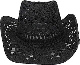 Bontand Estate Esterna degli Uomini Donne Occidentali del Cowboy Cappelli Tessuti A Mano Cappello di Paglia Traspirante Beach Protezione di Jazz Sunhat per Unisex