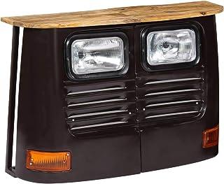 vidaXL Mango Aparador Forma de Camión Madera Gris Oscuro Mueble Organizador