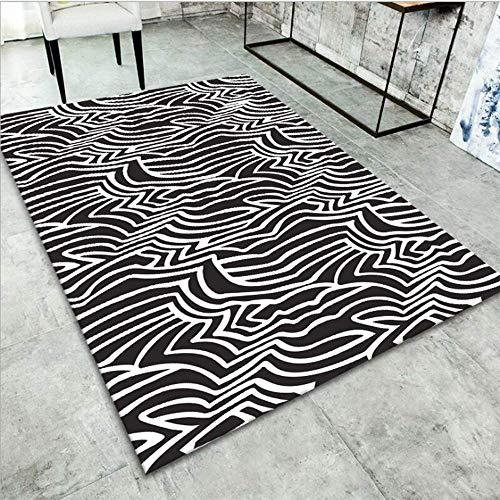 SHEHUIREN Teppiche Teppich Rechteckig Wohnzimmer Sofa Tisch Pad Schlafzimmer Bettvorleger Rutschfester Partikel rutschfeste Verschleißfesten Safe Bequem,80X120CM
