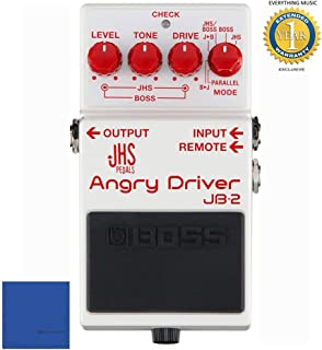 Boss JB-2 Angry Driver OverDrive Pedal with Microfiber and Free EverythingMusic 1 Year Extended Warranty