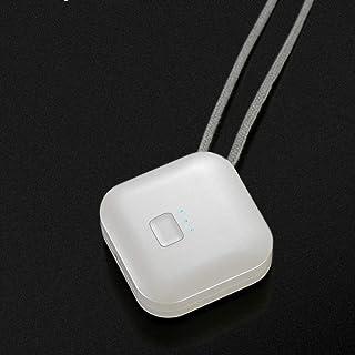 TLJX Collar con Purificador de Aire Portatil Ponible Limpiador de Aire Captura Alergia Polvo Humo Olores/USB Recargable,Bl...