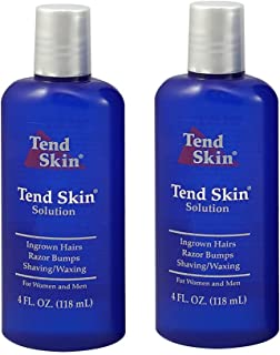 "Tend Skin Care Solution for Ingrown Hair & Razor Bumps, 4 oz,""Pack of 2"""