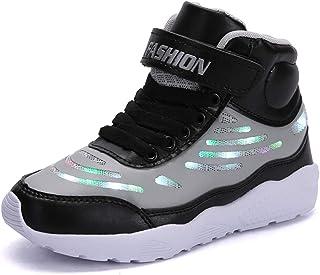 48f03c2194063 GJRRX Baskets Filles Chaussures Garçons LED Chaussures USB Rechargeable pour  Enfant Enfant Chaussures LED Basket LED