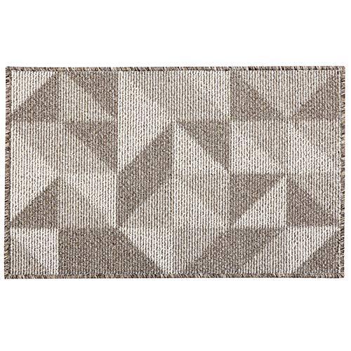 Fußmatte von eBoutik, waschmaschinenfest, Schmutzfangmatte, TPR-Anti-Rutsch-Technologie-Teppich, Polypropylen, beige, 50cm * 80cm