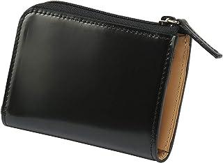 コードバン 小銭入れ メンズ ラウンドファスナー 革財布 (ギリュックリヒャ ケアル) GK-016 (ブラック)