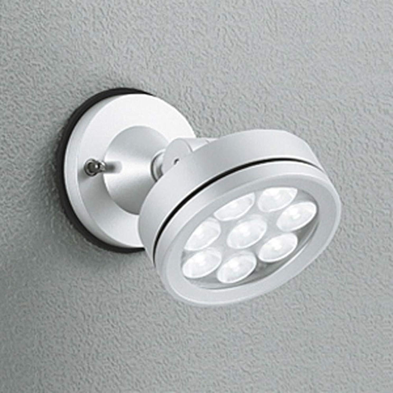 名目上のレンダービスケットオーデリック LEDスポットライト 防雨型 壁面?天井面取付兼用 ビーム球150W相当 LED×8灯 電球色 ワイド配光 マットシルバー OG254064