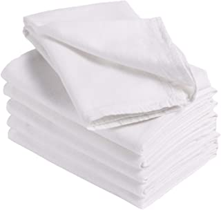 Linteum Textile Supply Flour Sack Towels (White) Reusable, Absorbent Dish Towels with Lint-Free & Durable Cotton Material ...